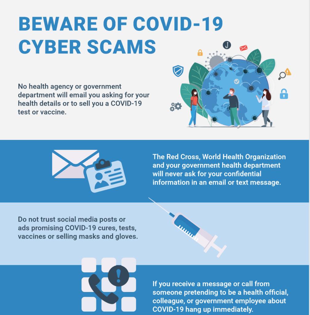 Remote workforce beware of covid-19 cyber scams, Team Venti