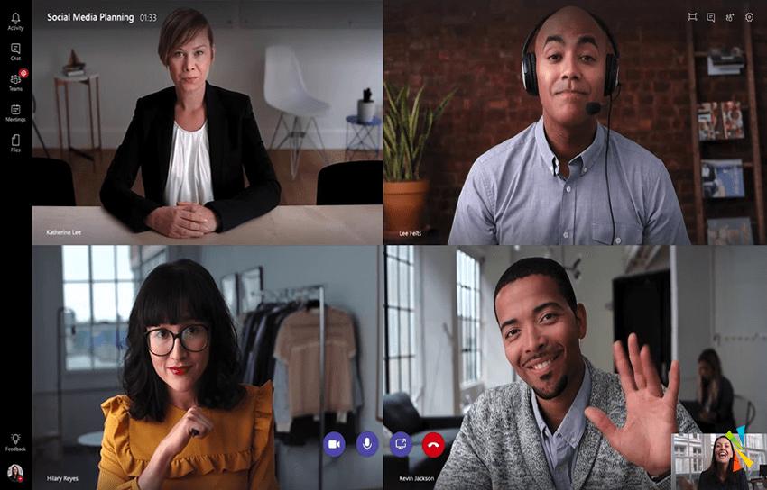 Hybrid work is the new normal, Microsoft Teams Meeting