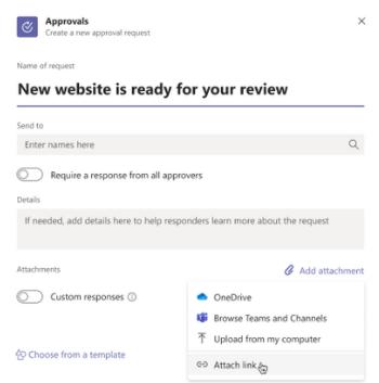 Approval attachments capability- Team Venti - Microsoft Teams