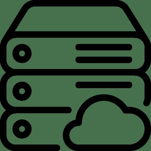 Server icon to represent the no server needed benefit of Exchange