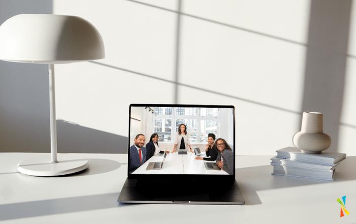 Hybrid work in teams rooms